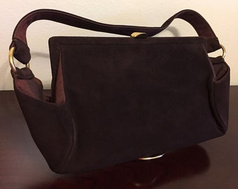 Vintage 1950s ROSENFELD ORIGINAL handbag in Dark Brown