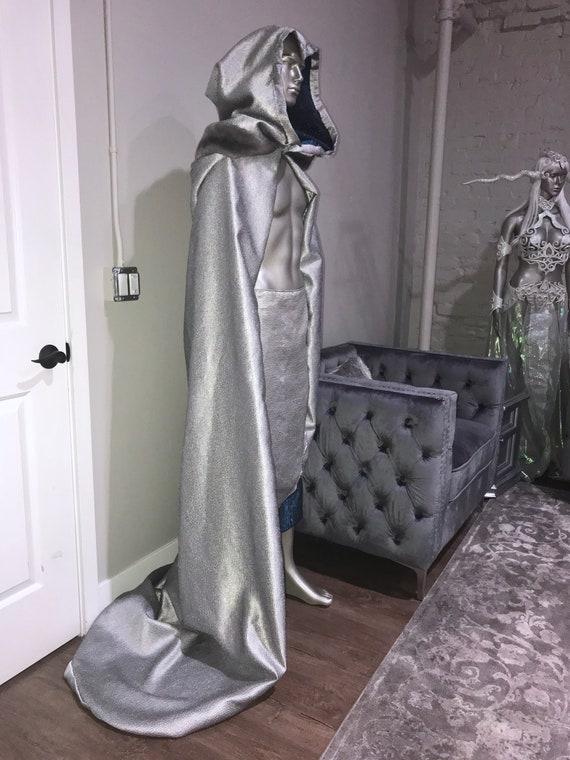 skirt kilt Mens SHIP TO matching amp; READY cloak set Silver costume elven man zvHddxnw