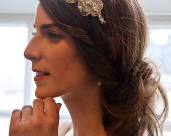 Diamante pearl bridal Headband , brides hair band, wedding, headdress headpiece