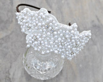 Wedding tiara headband bridal pearl pearls bride
