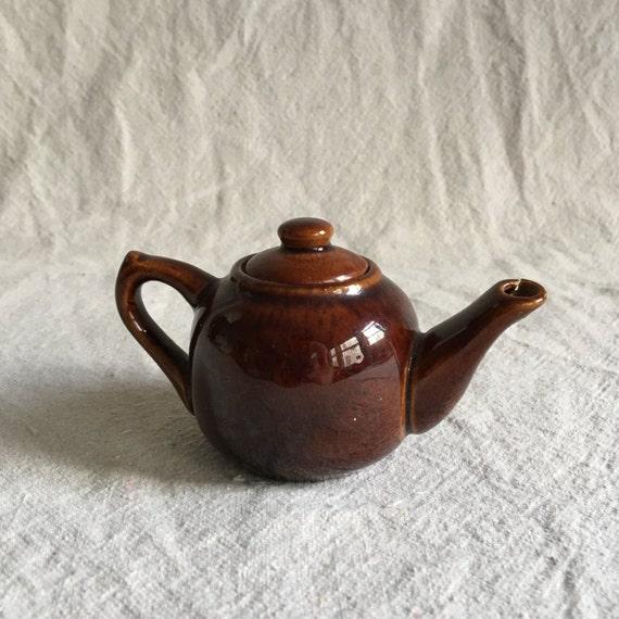 Brown Glazed Miniature Teapot