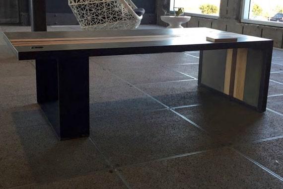 Table Et Basse Bois Béton Acier En XOknZNP80w
