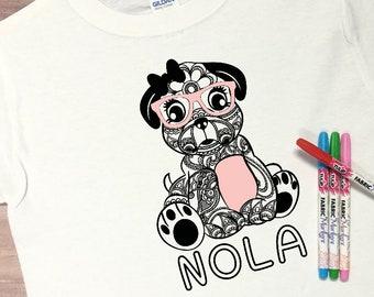 Coloring T-Shirt ~ Color Me T-Shirt ~ Color Tee ~ Puppy Shirt ~ Robot Shirt ~ Dino Shirt ~ Unicorn Shirt ~ Llama Shirt