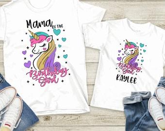 Unicorn Birthday Shirt ~ Unicorn Mama Shirt ~ Unicorn Mom Shirt