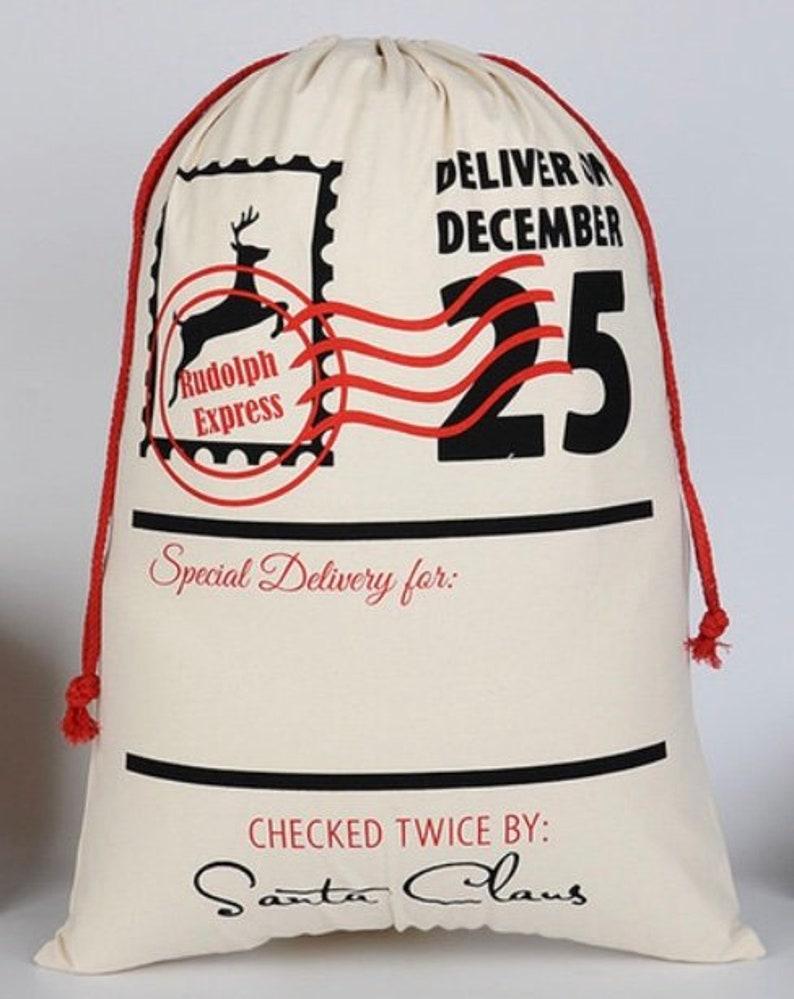Santa Sack  Santa Bag  Gift Bag image 0
