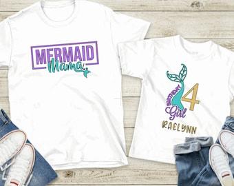 Mermaid Birthday Shirt ~ Mermaid Mama Shirt ~ Mer Mom Shirt