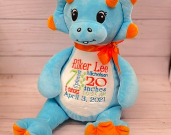 Dino Gift ~ Stuffed Dinosaur ~ Personalized Gift ~ Baby Gift