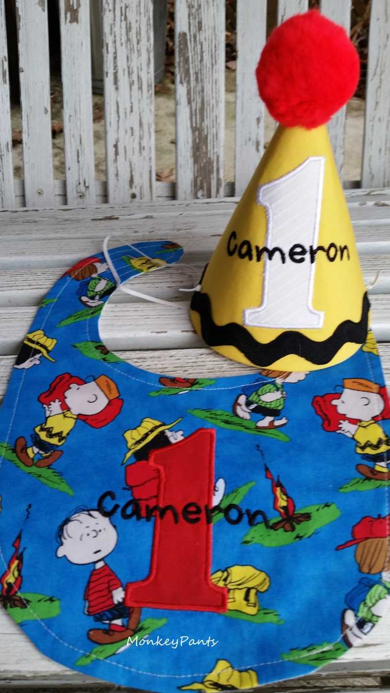 Boys 1st Birthday Hat Charlie Brown Peanuts Party