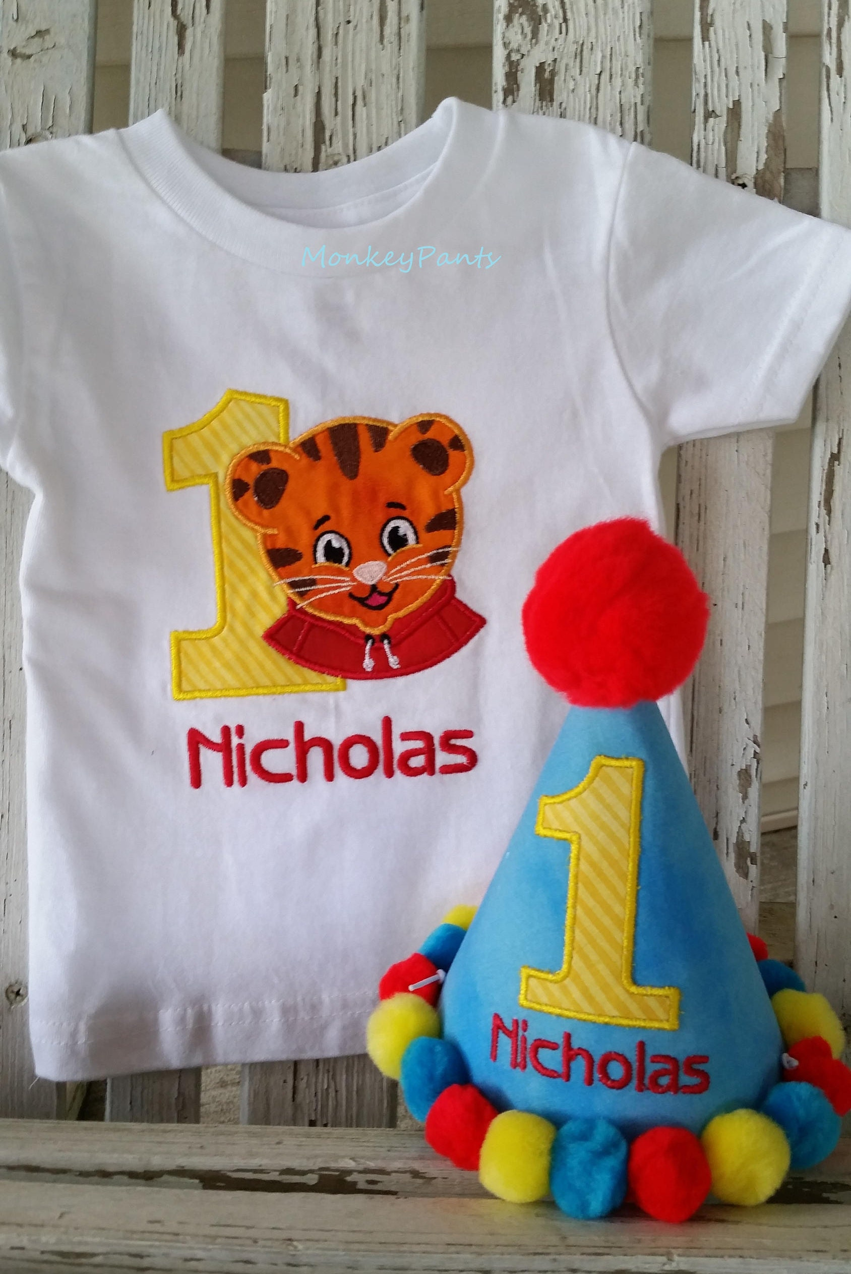 1st Birthday Boy Outfit Tiger Shirt Ages 1 9 Blue