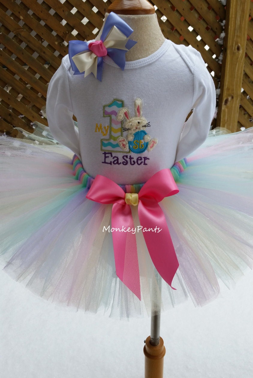 64c20d0bf My 1st Easter Tutu Outfit Girls 1st Easter Bodysuit Baby