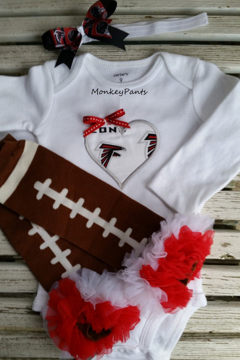 bfd7a0a6e221 Atlanta Falcons Baby Girl s Football Bodysuit Matching
