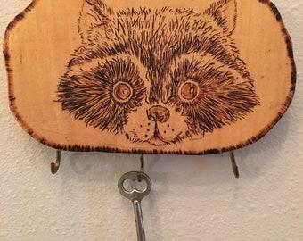 Cute Raccoons Curiosity Purse Bag Hanger Holder Hook
