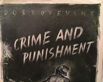 Vintage Fyodor Dostoyevsky's Crime and Punishment Hardback Book