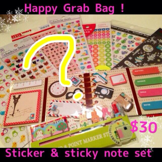 Planner's sticker & sticky note for Filofax.KawaiiTokyo HAPPY Grab Bag  no,2