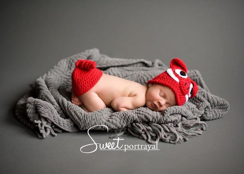 Arkansas Razorback Hat and Bottom Tushy Topper Cover Crochet image 0