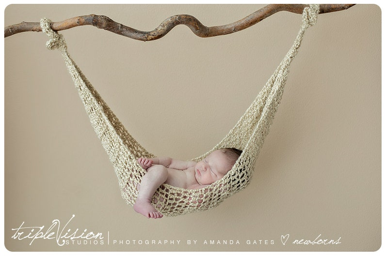 Newborn Hanging Hammock Style Crochet Photo Prop Photography image 0
