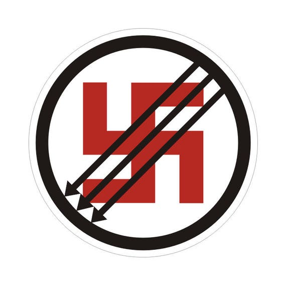 "Classic ANTIFA Symbol No Nazi Anti Nazi Anti Fascism Sticker Decal 3/""x3/"""