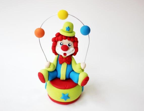Fondant Circus Clown Topper Fondant Clown Circus Fondant Etsy