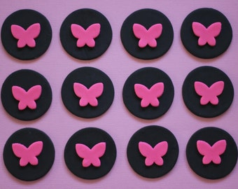 Butterfly Fondant Toppers - Perfect for Cupcakes, Cookies and Other Edible Creations