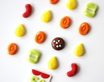 Fondant Candy Cake - Candy Fondant Toppers - Fondant Candy Cake Toppers