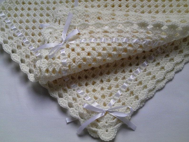 coperta manta Crochet Baby Blanket Afghan Nursery Bedding Christening Baptism deken couverture colcha Babydecke