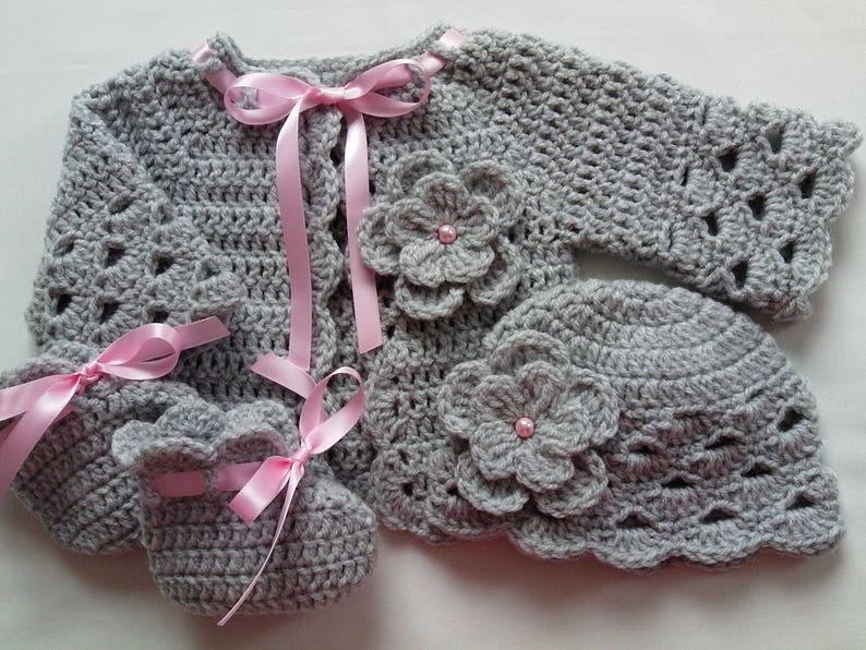 Crochet Baby Cardigan Pink Baby Cardigan Baby Photo Prop Baby Girl Gift New Baby Gift Baby Shower Gift Baby Crochet Jacket