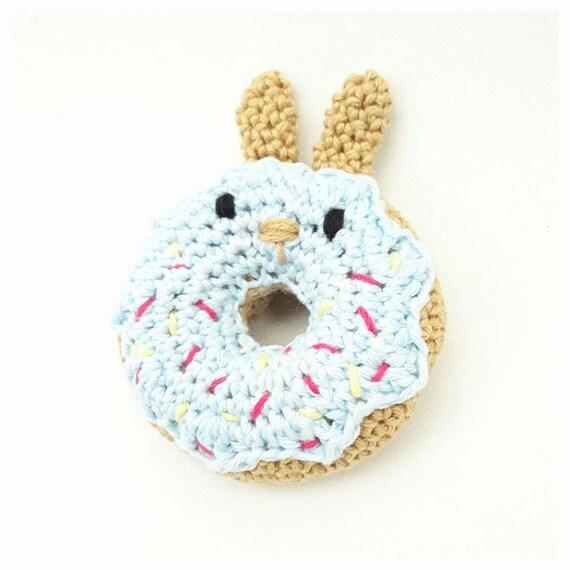 Donut Konijn Haakpatroon Haken Konijn Donut Rammelaar Etsy