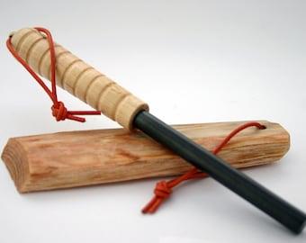 Kit Firesteel et bois gras - ferrocerium - allume feu - Pyrobarre - Bushcraft & Randonnée
