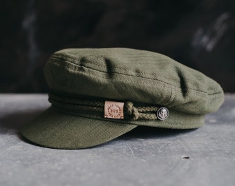 Olive Green 'The Pathfinder' Mariner's Cap by Art Disco