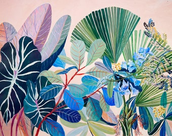 Pastel Tropicalia - illustration - giclee print