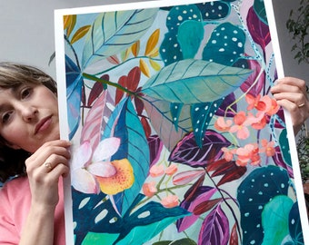 NEW PORTRAIT SIZE!!!!- illustration painting - giclee print