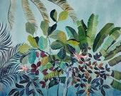 Birds  of  Paradise - illustration - giclee print