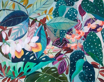 Spotted Tropicalia - illustration - giclee print