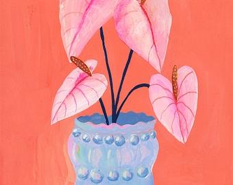 Opalite vase - Giclee Print