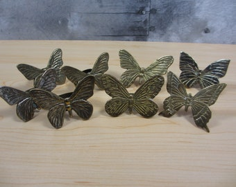 India Brass Butterfly Napkin Rings 2 Different Sets to Choose From