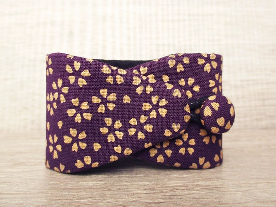 Obi bracelet Atsuko japanese fabric 100% cotton flower  2c94cbc4cce6