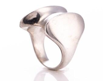Vintage Georg Jensen Henning Koppel Designed Sterling Silver Modernist Ring #140 Size 6.75