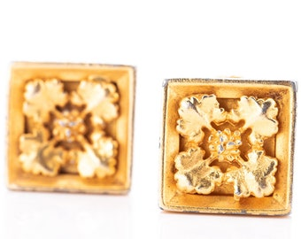 Vintage Mish Tworkowski Gold Plated Statement Clip Earrings