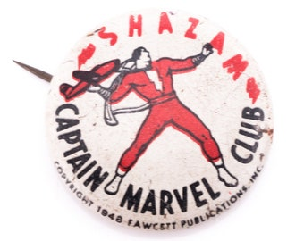 Vintage 1948 Captain Marvel Club Shazam Pin