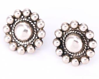 Vintage Danecraft Sterling Silver Screwback Earrings