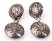 Vintage Navajo Ronnie Hurley Sterling Silver Earrings