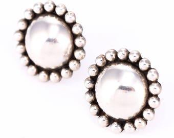 Vintage Mexican Sterling Silver Screwback Earrings