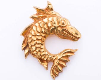 Vintage Arthus Bertrand Paris Art Deco Fish Brooch