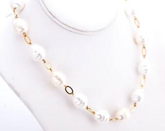 Vintage Ralph Lauren Faux Baroque Pearl Necklace