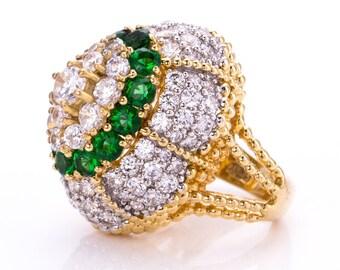 Estate Princess Amanda Borghese Rhinestone Statement Ring Size 7