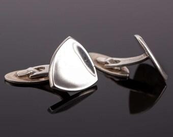 Vintage Ulrich Danish Modern Sterling Silver Cufflinks