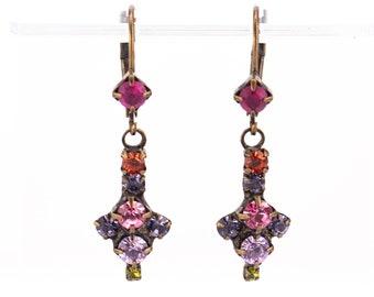 Vintage Sorrelli Rhinestone Drop Earrings