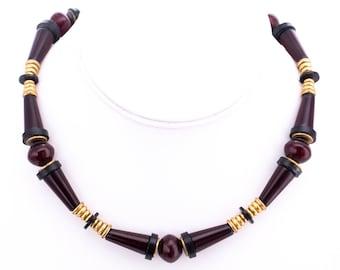 Vintage Designer Beaded Choker Necklace