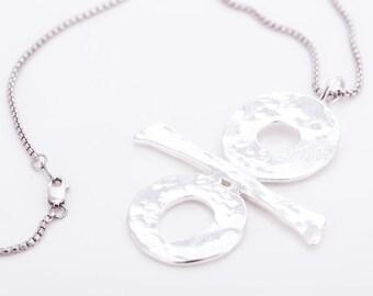 """Vintage Robert Lee Morris """"A Lifetime of Design"""" Sterling Silver Pendant Necklace"""