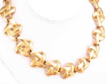 Vintage Anne Klein Gold Plate Link Necklace